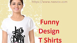 Women Funny Graphic Tee Shirts White Colour - Video