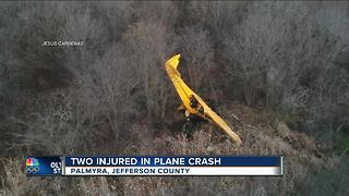 2 injured in Palmyra plane crash - Video