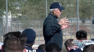 Tomey visits Utah State practice as NM State arrives - Video