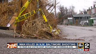Man killed in northwest Baltimore Saturday evening - Video