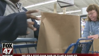 Meijer, food bank pair up to help families - Video
