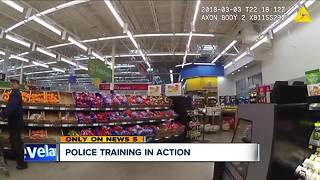 Police training in action - Video