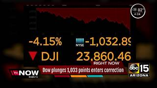 Stock plunges Thursday prompting a 'correction' - Video