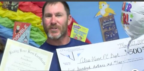 Teacher of the Year receives special gift