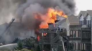Raging Fire Destroys Home at Outer Banks
