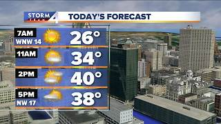 Cool and breezy, snow possible late - Video