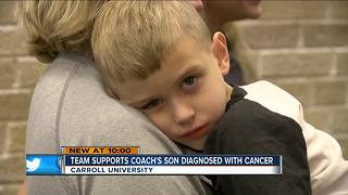 Athletes rally around Carroll track coach after son's cancer diagnosis - Video