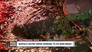 Buffalo water crews working to fix main break - Video