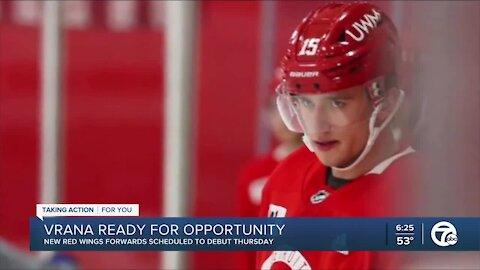 Vrana ready for new opportunity in Detroit