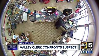 Surveillance video shows 7-Eleven clerk shoot suspect during attempted robbery - Video