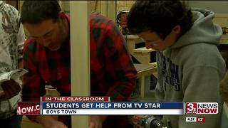 TV Host Helps Boys Town Students