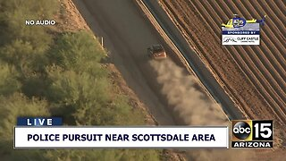 VIDEO: Police pursuit ends in Scottsdale area