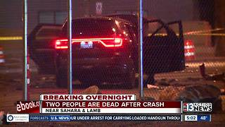2 people killed in crash near Sahara - Video