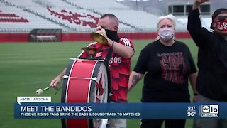 Meet the Bandidos! Phx Rising fans bringing the bass to games
