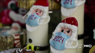 Christmas candles raise awareness of the importance of masks