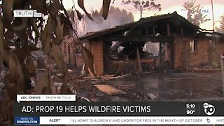 Ad: Prop 19 helps wildfire victims