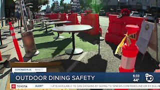 Outdoor dining safety a concern