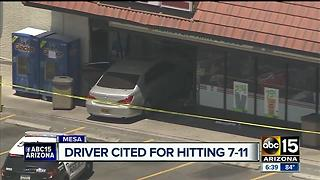 Driver cited for crashing into Mesa 7-11 - Video