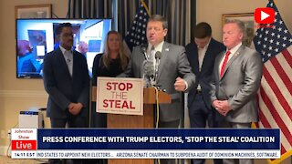 Trump Electors, Stop The Steal Coalition Hold Press Conference on Capitol Hill