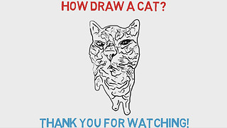 How Draw A Cat  - Video