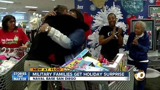 Military families get holiday surprise - Video