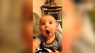 Cute Baby Masters The Art Of Silly Faces - Video