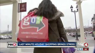 Last Minute Holiday Shopping Becoming Stressful