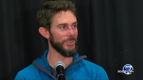 Full news conference: Colorado runner who killed attacking mountain lion at Horsetooth Mountain shares story