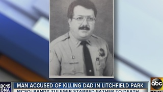 Litchfield Park man accused of stabbing, killing own father - Video