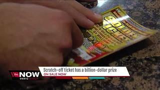 Michigan Lottery scratch-off ticket has billion dollar prize - Video