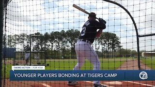 "Tigers Riley Greene calls 25-year-old Jake Rogers the ""dad of the house"" in Lakeland"