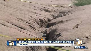 Researchers tracking crumbling cliffs