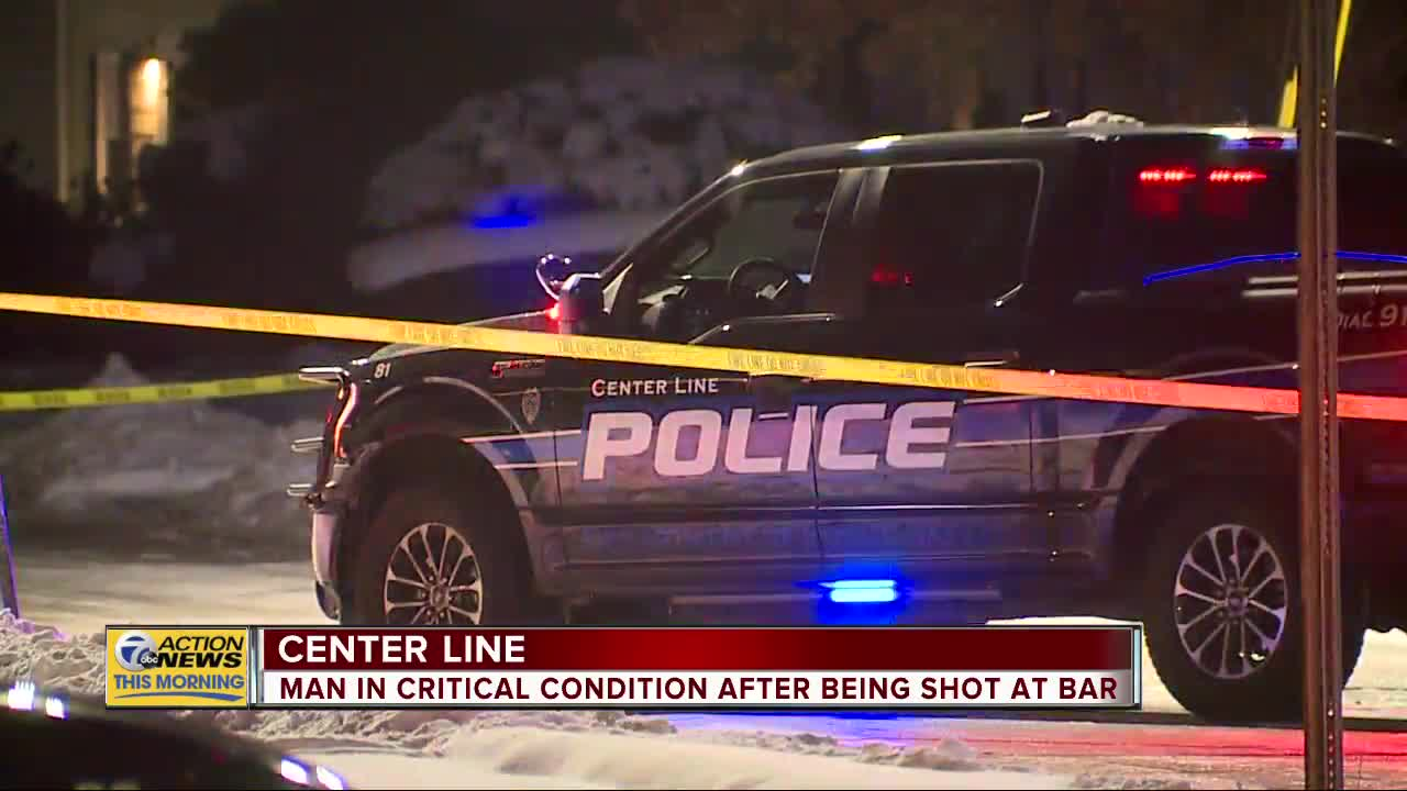 Man in critical condition after being shot at bar in Center Line