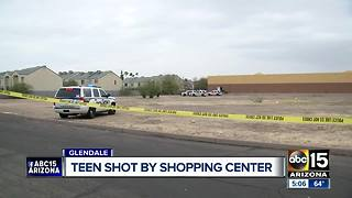 Glendale teen shot by shopping center - Video