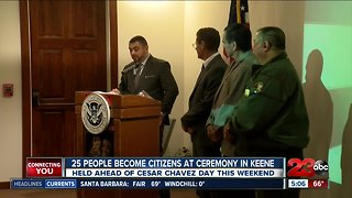 25 people become citizens at the Cesar Chavez National Monument