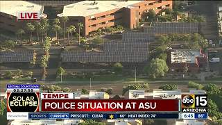 Police investigation at ASU - Video