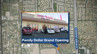 Family Dollar store opening in North Las Vegas - Video