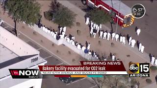 Hazmat crews respond to CO2 leak in Phoenix - Video