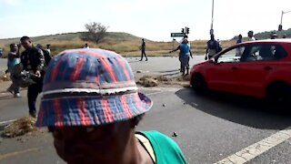 SOUTH AFRICA - Johannesburg - Freedom Park Protest (videos) (tgY)