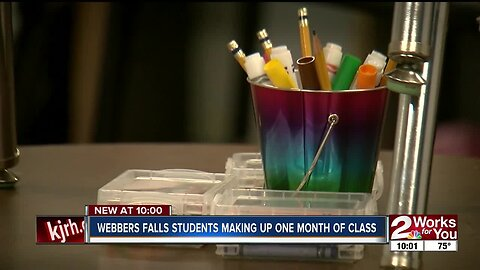 Webbers Falls students making up one month of class
