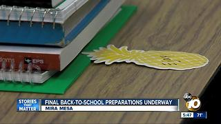 Final back-to-school preparations underway - Video