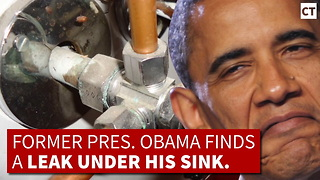Weeks Before Obama Leaves Office, He Calls A Plumber - Video