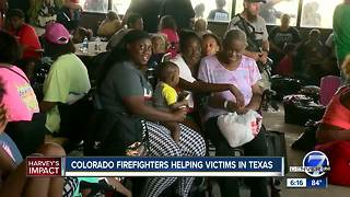 Colorado firefighters helping victims in Texas - Video