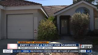 Empty house becomes target for scammers - Video