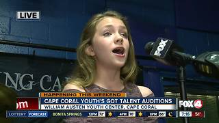 Cape Coral Youth's Got Talent holds auditions - 7am live report - Video