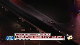 2 police officers, 1 civilian shot at Home Depot - Video