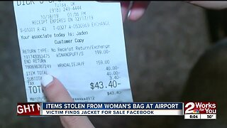 Items stolen from woman's bag at airport