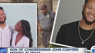 Son of U.S. Representative John Conyers missing in Houston, Texas - Video