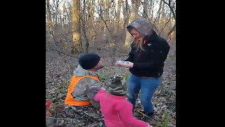 Boyfriend Pulls Off Surprise Marriage Proposal In The Middle Of The Woods - Video