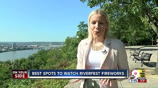 Best places to watch the Riverfest fireworks